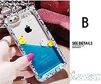 iphone8 plusケース アイフォン8 プラス カバー iphone7 plus ケース iphone7 plus カバー アイフォン7 プラス ケース アイフォン7 プラス カバー Apple 5.5インチ スマホケース 保護カバー 液体 キラキラ 流れるアヒル B