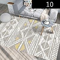 housewaresstore ノルディック近代的なミニマリストかわいいスタイルの風のラウンドカーペットベッドルーム回転チェア吊りバスケット吊りマットコンピュータチェアクッション carpet (色 : D, サイズ さいず : 100×200cm)