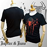 Jupiter&Juno ジュピターアンドジュノ Skull Rock Short Sleeve Tee Spider スカル ロック 半袖 Tシャツ スパイダー JM1222027-BLK-2XL