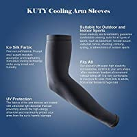 Kuty Uv Protection Cooling Arm Sleeves, Sport Arm Sleeves Cover for Women&Men, Perfect for Cycling, Driving, Running, Basketball, Football & Outdoor Activities.