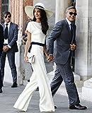 インポート ピンク import pink 海外 インポート セレクト ホワイト ネイビー ワイド パンツ バイカラー セット アップ スーツ 大人 白 紺 色 きれいめ