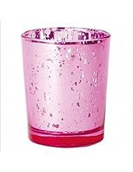 カメヤマキャンドル(kameyama candle) ヴィンテージグラス 「 ピンク 」 キャンドルホルダー
