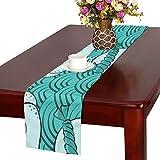 LKCDNG テーブルランナー 和風のタコ クロス 食卓カバー 麻綿製 欧米 おしゃれ 16 Inch X 72 Inch (40cm X 182cm) キッチン ダイニング ホーム デコレーション モダン リビング 洗える