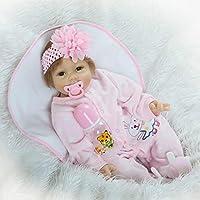 Rebornベビーガール人形ソフトビニールSmiling新生児シリコンおもちゃ22インチマグネットダミーfor Kids Children