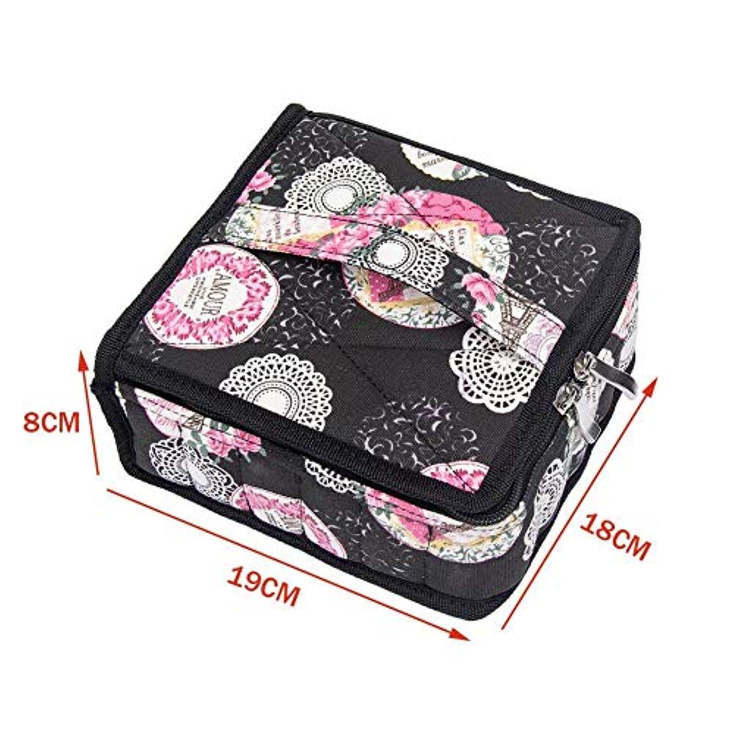 Pursue エッセンシャルオイル収納ケース アロマオイル収納ボックス アロマポーチ収納ケース 耐震 携帯便利 香水収納ポーチ 化粧ポーチ30本用