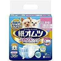 ペット用紙オムツ SSSサイズ  超小型犬 36枚入×12個入り (ケース販売)