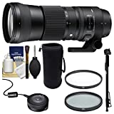 Sigma 150 – 600 mm F / 5.0 – 6.3 DG OS HSM Contemporaryズームレンズwith Sigma USB Dock + UV / CPLフィルタ+ポーチ+一脚キットCan..