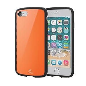 エレコム iPhone 8 ケース 衝撃吸収 【 落下時の衝撃から本体を守る 】 TOUGH SLIM LITE iPhone 7対応 オレンジ PM-A17MTSLDR
