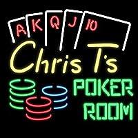 """ネオンサイン、『""""Creighton's Poker Room』NEON SIGNO ディスプレイ サインボード、ギフト、 省エネ、バー、オーム、カフェ、喫茶店、広告用看板、クラブ及び娯楽場所等 インテリア 20*16インチ ME343-c"""