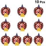 Amosfun 10pcs Party Blowout Cartoon Black Lion Shaped Kids Party Toy Noisemakers Whistle Toy Supplies for Children Birthday Party Cheering Props