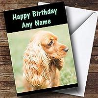 Cocker Spaniel Personalized Birthday Greetingsカード