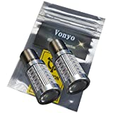 Vonyoボニョ S25 アンバー ウインカー LEDバルブ 5630 33SMD シングル球LED プロジェクターレンズ搭載 ステルス仕様 33連 2個セット ピン角180°