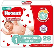 Huggies Essentials Nappies Size 1 (up to 5kg) 28 Count