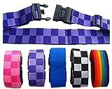 Zeroire スーツケースベルト ダイヤル式ロック付き 全6色[60日返金保証]カギ 鍵 海外 海外旅行 出張 用 (紫)