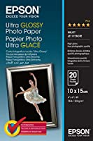 EPSON ULTRA GLOSSY PHOTO PAPER 10X15 P20