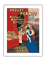 Pernotパッケージ - ビスケットPernot - フランスビスケット会社 - ビンテージな広告ポスター によって作成された リオネト・カピエロ c.1905 -プレミアム290gsmジークレーアートプリント - 46cm x 61cm