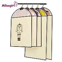 Sizelアウター:1ピース衣類防塵カバー、不織布3スタイル防水コートドレススーツプロテクター、ぶら下げホームオーガナイザー収納袋