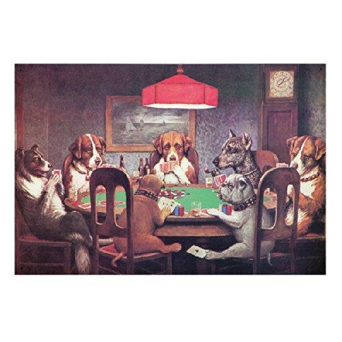 [해외]7 마리 강아지 포커 대회 아메리칸 양철 간판/7 dogs dog poker tournament American tin poster