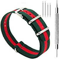 CIVO Watch Bands NATO Premium Ballistic Nylon Watch Strap Stainless Steel Buckle