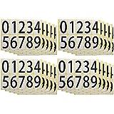 ユポ ナンバーシールステッカー 防水 PP加工 00~99の番号 ナンバリング可能 数字 10種各1片(=33x66mm/片)x20シート