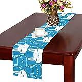 GGSXD テーブルランナー 小柄うさぎ クロス 食卓カバー 麻綿製 欧米 おしゃれ 16 Inch X 72 Inch (40cm X 182cm) キッチン ダイニング ホーム デコレーション モダン リビング 洗える