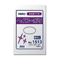ヘイコー ビニール袋 ヘイコーポリ No.1513 0.015mm厚 200枚 006615013