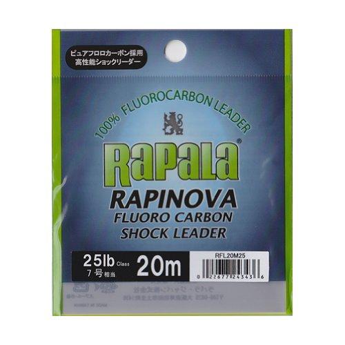 ラパラ(Rapala) ラピノヴァ フロロカーボン ショックリーダー 20m 7.0号 25lb クリア RAPINOVA FLUORO CARBON SHOCK LEADER RFL20M25