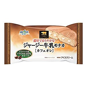 オハヨー乳業 ジャージー牛乳モナカカフェオレ 130ml×20袋
