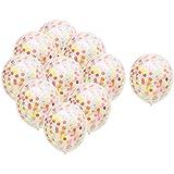 KOZEEY 全2種選べ 18インチ カラフル 紙吹雪の風船 結婚式誕生日 パーティー 装飾用 10個入り - 多色