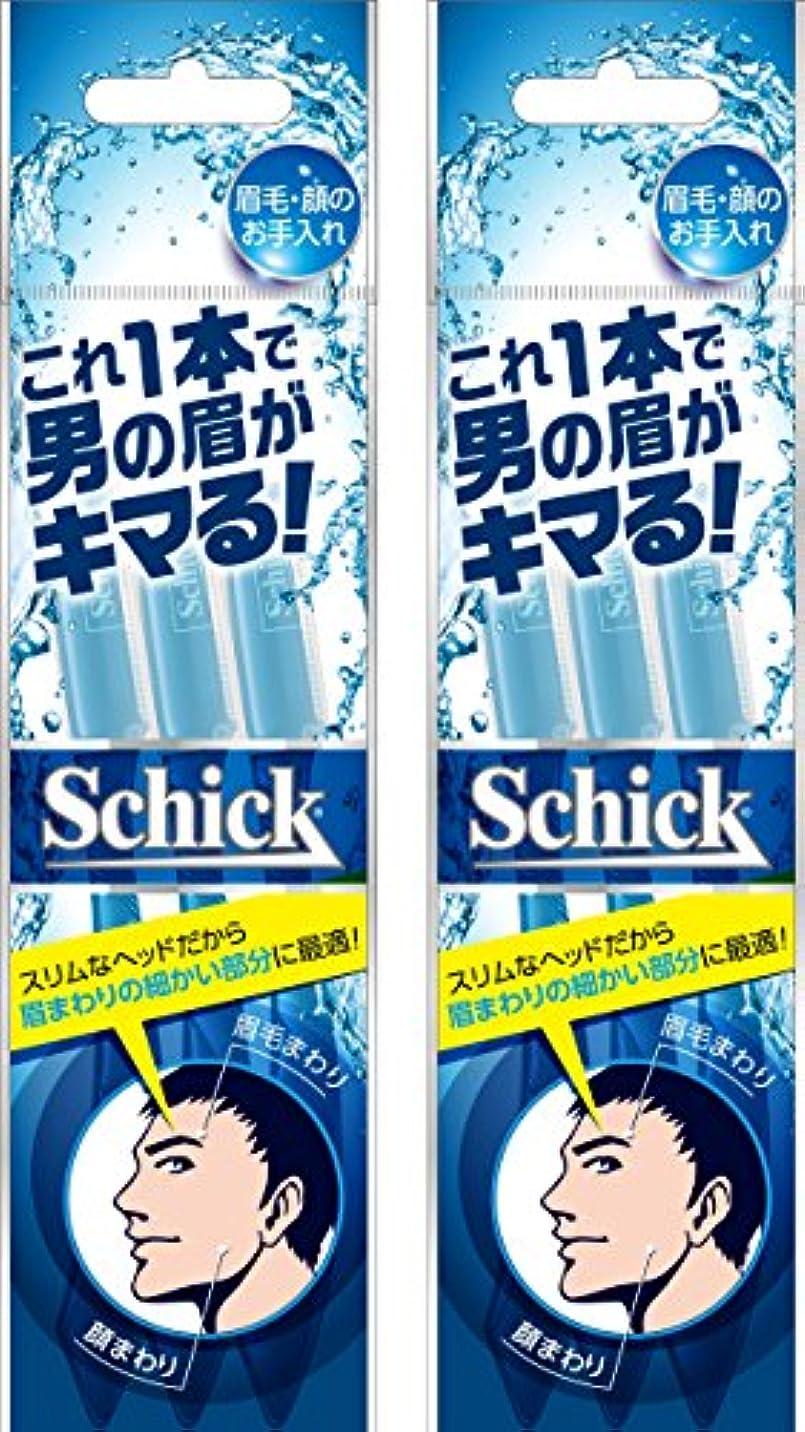 セットアップミシン目繊細シック Schick メンズ Lディスポ 使い捨て 顔・眉毛用 3本入×2個 セーフティガード付 男性 フェイス