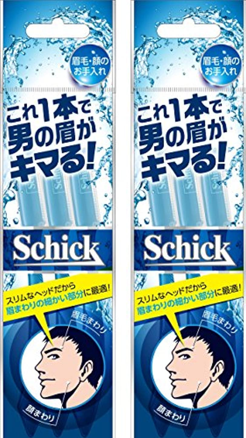 取り組む思い出ムスタチオSchick(シック) シック Schick メンズ Lディスポ 使い捨て 顔?眉毛用 セーフティガード付 男性 フェイス 単品 3本入×2個