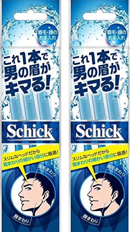 書誌手紙を書く壊すSchick(シック) シック Schick メンズ Lディスポ 使い捨て 顔?眉毛用 セーフティガード付 男性 フェイス 単品 3本入×2個