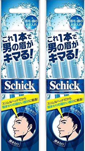 シック Schick メンズ Lディスポ 使い捨て 顔・眉毛用 3本入×2個