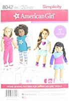 Simplicity Patterns American Girl Doll Clothes for 18 Inch Doll Size: Os (One Size) 8042 [並行輸入品]