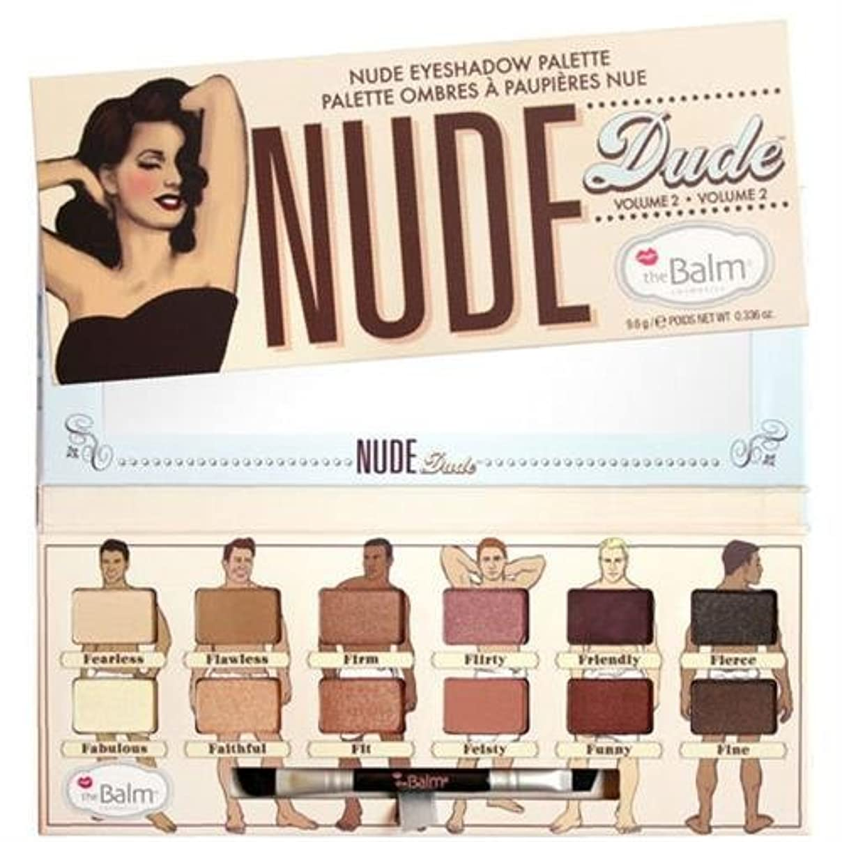 風変わりな熟達宣伝Thebalm Nude Dude Nude Eyeshadow Palette (並行輸入品) [並行輸入品]