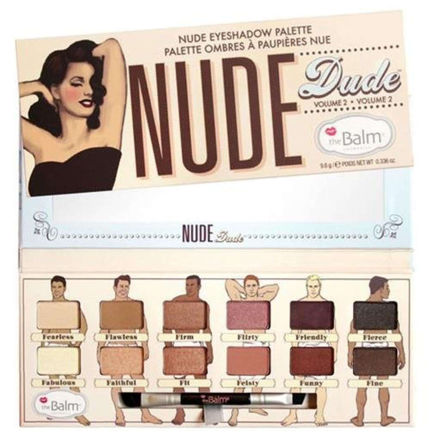 避ける修正直立Thebalm Nude Dude Nude Eyeshadow Palette (並行輸入品) [並行輸入品]