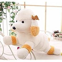 HuaQingPiJu-JP かわいい48センチメートル柔らかいプードルぬいぐるみプリー玩具人形子供の贈り物(黄色)を置く動物のぬいぐるみをぬいぐるみ