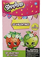 Shopkins 32 Valentines Cards with Tattoos