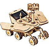 ROKR Assemble Solar Energy Powered Cars-Moveable 3D Wooden Puzzle Toys-Funny Teaching Educational-Home Deco-Model Building Sets-Best Christmas,Birthday Gift for Boys,Children,Adult