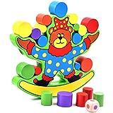 DreamsEden バランス 積み木 ブロック - 木製クマ 教育玩具 カートゥーン収納バッグ付き 3-6歳の子供用
