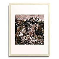 ヴァレンティン・セローフ Serow,Valentin 「Zar Peter II. und Zarin Elisabeth bei der Jagd zu Pferde. 1900.」 額装アート作品