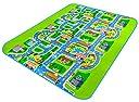 C-Princess 子供部屋 マット プレイマット カーペット ラグ ロードマップ 地図 お町マップ 道路 知育玩具 おもちゃ ベビー キッズ 遊ぶ 勉強 130cm 160cm 0.5cm