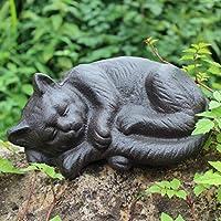 PLL かわいい猫の形錬鉄製の装飾品庭装飾品ホーム中庭鋳鉄製の手工芸品