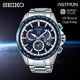 SEIKO ASTRON(セイコー アストロン)GPS ソーラーウオッチ SSE053J1 国内品番 SBXB053 8Xシリーズ ワールドタイム GPS 衛星電波 腕時計 アナログ シンプル デュアルタイム ブルー 青 [並行輸入品]