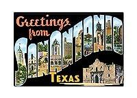 Greetings from San Antonio Texas冷蔵庫マグネット
