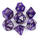 Paladin Roleplaying Polyhedral Dice Set、パール効果、パープル