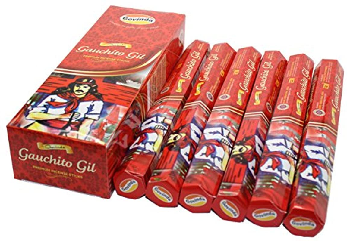 ピアノなかなかコーンGovinda ® Incense – Gauchito Gil – 120 Incense Sticks、プレミアムIncense、Masalaコーティング
