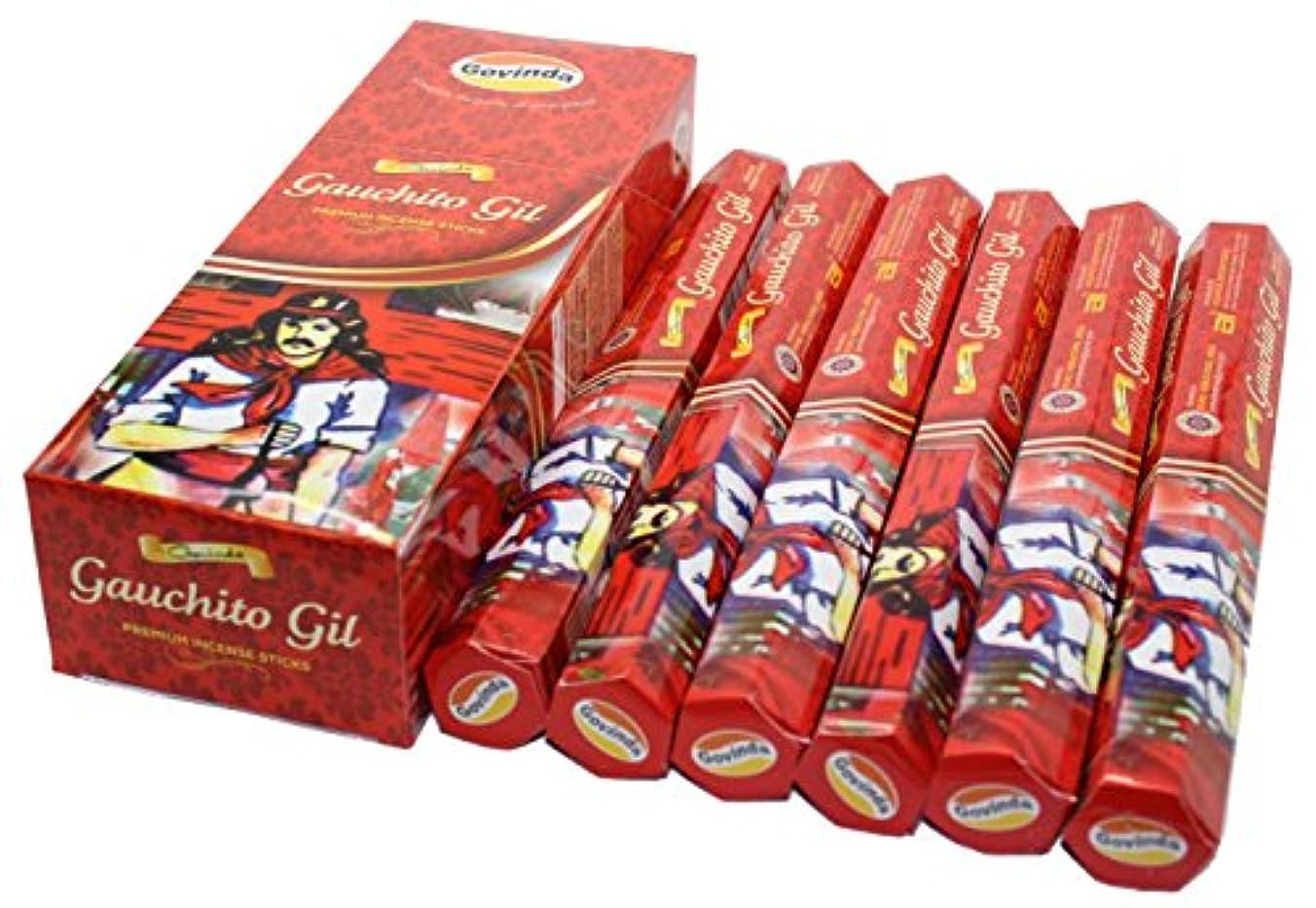 図水没噛むGovinda ® Incense – Gauchito Gil – 120 Incense Sticks、プレミアムIncense、Masalaコーティング