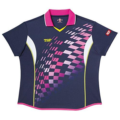 TSP レディス リップルシャツ 3S ネイビー 1枚