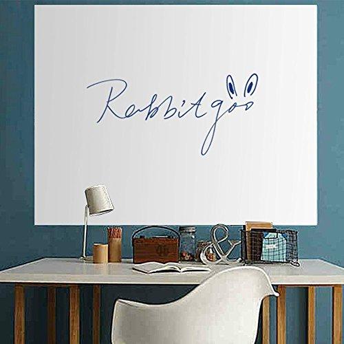 Rabbitgoo®ウォールステッカー ホワイトボード  ステッカー 勉強用 会議ディスカッション(44.5cm×198cm 厚さ0.18?)
